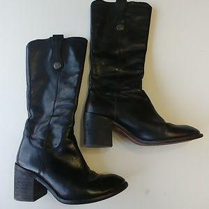Kork-Ease Shoes - Kork-Ease Black Leather Heeled Boots 7-8/38